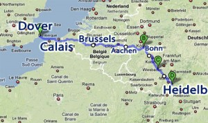 Channel-Triathlon Dover-Calais-Heidelberg