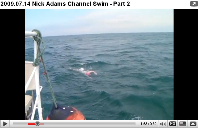 Nick Adams' 4th solo crossing of the Channel - 5 hours in F5 - only the effects are visible on the video Part II