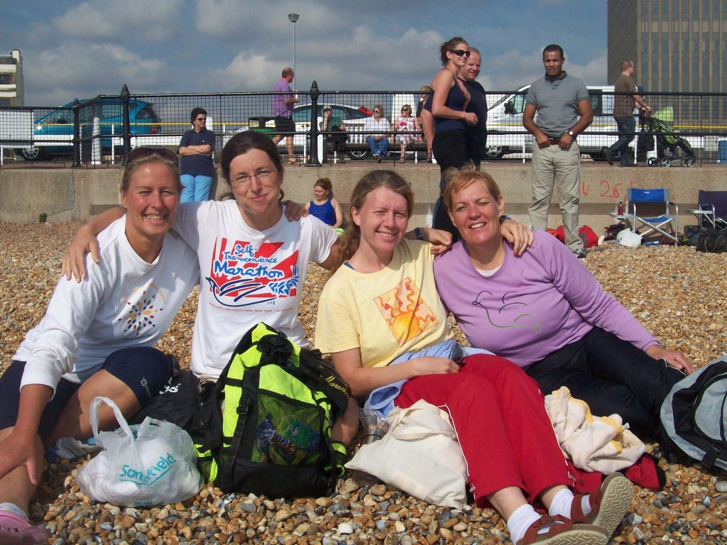 Dover beach - with Channel aspirants 2010 in background