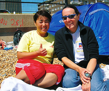 Miyuki Fujita with Channel friend Margit Bohnhoff 2008 in Dover
