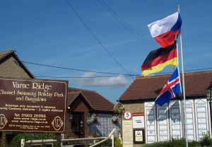 The flags are flying from the Ridge: Czech Republic (Zuzka and Abhejali), Germany (Vasanti) and Iceland (Viktoria)