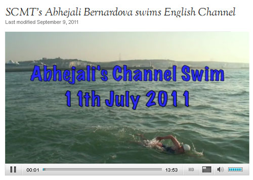 Abhejali swimming the English Channel 2011- Ärmelkanalschwimmen Abhejali, 2011