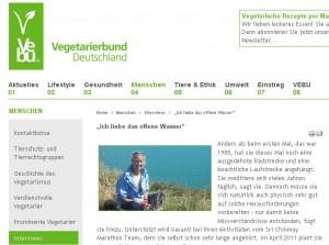 Interview Vegetarierbund Deutschland