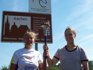Entering Aachen