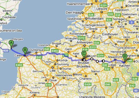 Dover-Aachen Ärmelkanal-Triathlon