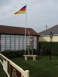 The German flag is flying at the Ridge - yeah!