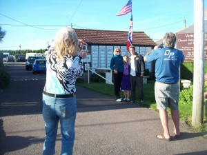 Flags are flying at the Ridge again - foto session with one of the swimmers