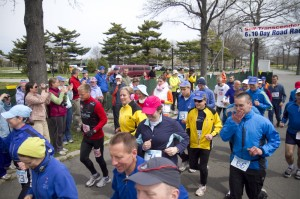 Start of the 6 Day Self-Transcendence Race, April 22nd, 2011, New York