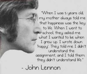 Inspiring People - John Lennon about happiness