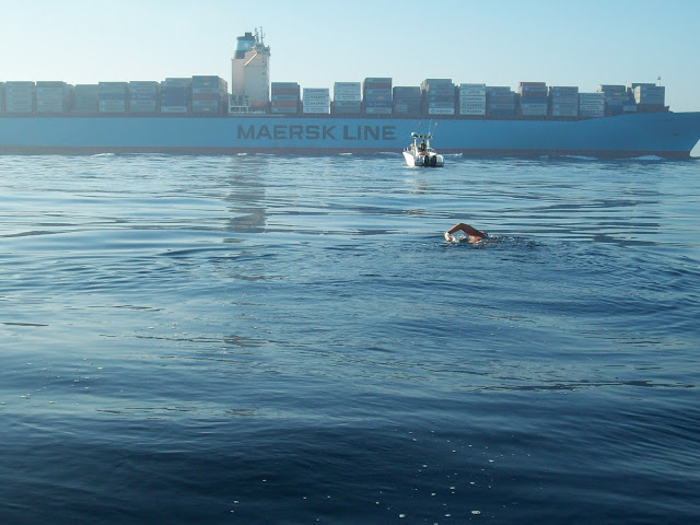 Swiming the Straits of Gibraltar - Separation Zone - Gibraltar Straits Swim 2012