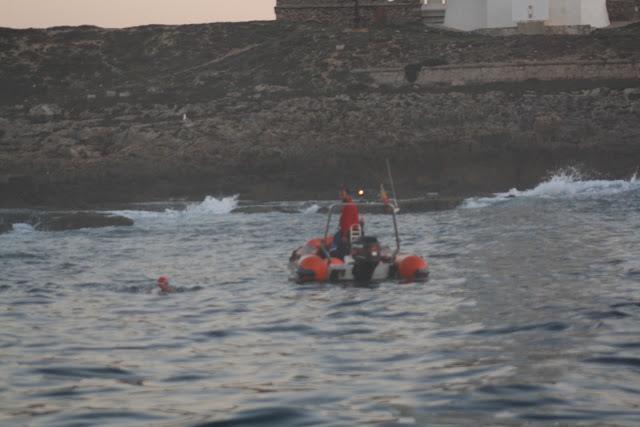 Swimming the Straits of Gibraltar - the start - Gibraltar Straits swim 2012
