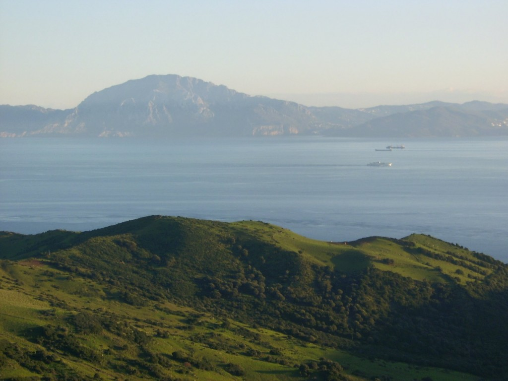 View across the Strait of Gibraltar from Europe to Africa - Gibraltar Strait Swim 2012