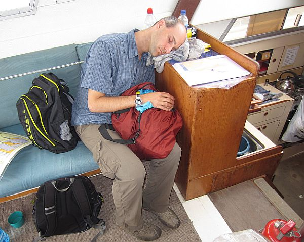 Helping a Channel swimmer is hard and tiring work!