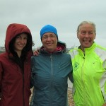 Jana (helper), Abhejali and Vasanti, after our first swims on Saturday - 7 hrs Abhejali, 4 hrs myself