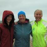 Jana (helper), Abhejali and Vasanti, after our first swims on Saturday - 7 hrs Abhejali, 4 hrs myself