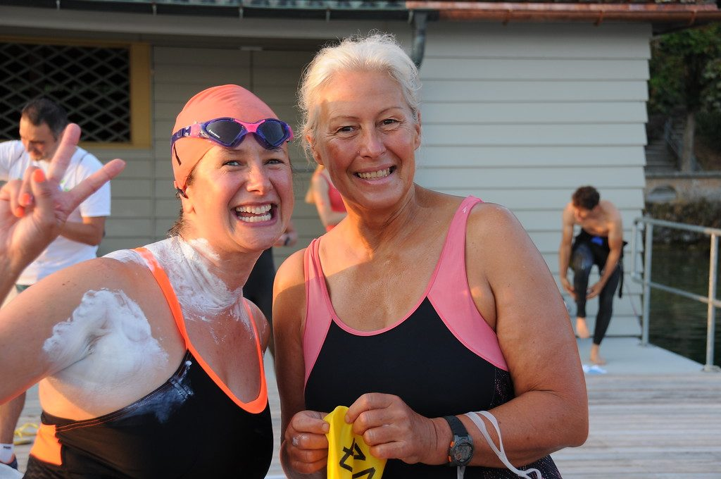 Lake Zurich Sri Chinmoy Marathon Swim - Aug. 2018, Vasanti Niemz und Angela Wood, UK